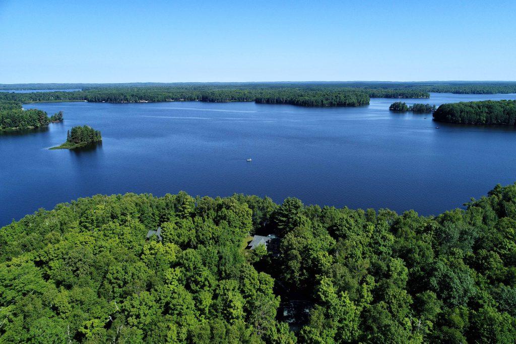 Teal Lake Hayward Wisconsin Log Home