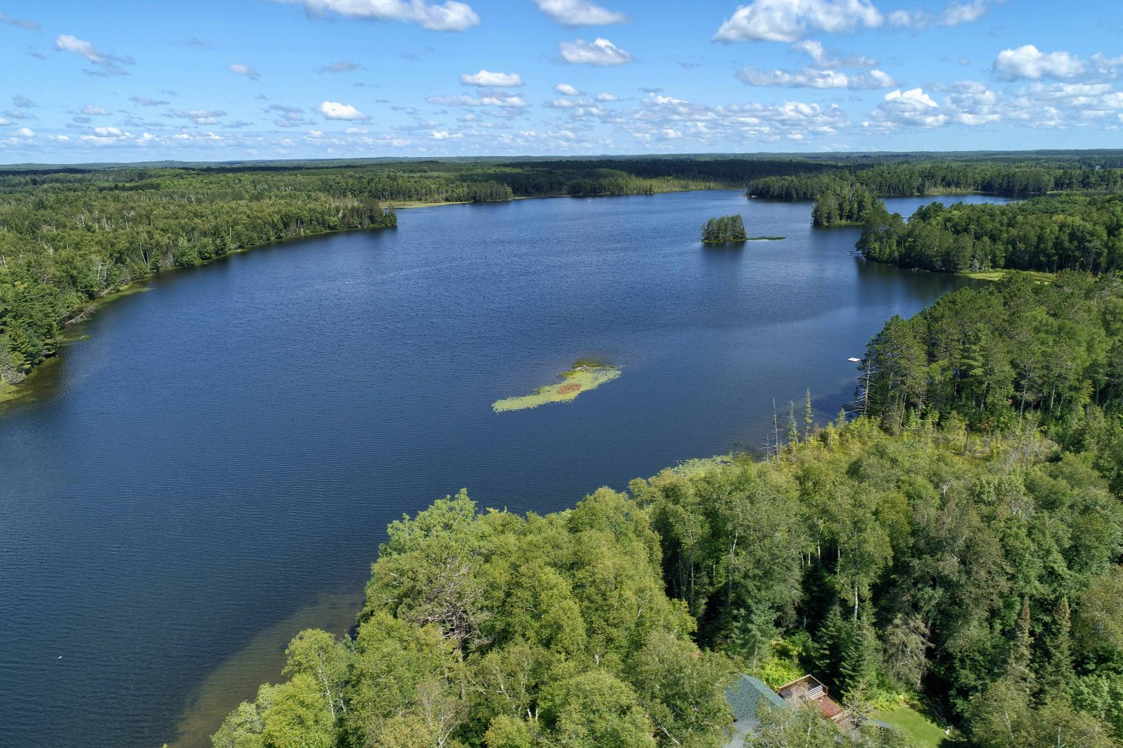Clam Lake, Wisconsin Aerial Drone Photos